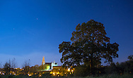 View of St Patrick's Cathedral by Moonlight, with my favourite tree at the top of Infinity Hill in the Armagh Observatory in the foreground