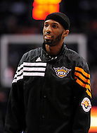Feb. 22, 2012; Phoenix, AZ, USA; Phoenix Suns forward Hakim Warrick (21) reacts on the court against the Golden State Warriors at the US Airways Center. The Warriors defeated the Suns 106 - 104. Mandatory Credit: Jennifer Stewart-US PRESSWIRE.