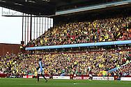 Picture by Paul Chesterton/Focus Images Ltd.  07904 640267.5/11/11.The traveling Norwich fans during the Barclays Premier League match at Villa Park stadium, Birmingham.