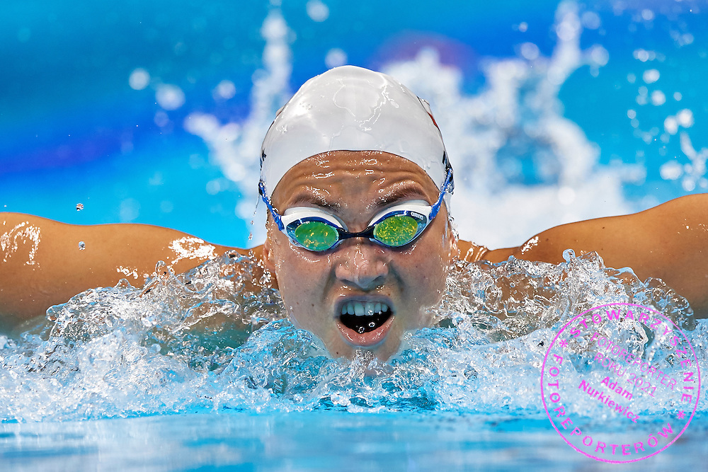 Rio de Janeiro, Brazil - 2016 September 2: Joanna Mendak from Poland swims during training session in Olympic Aquatics Stadium while 2016 Summer Paralympic Games on September 2, 2016 in Rio de Janeiro, Brazil.<br /> Rio 2016 Paralympic Games will be held from September 7 until 18.<br /> <br /> Adam Nurkiewicz declares that he has no rights to the image of people at the photographs of his authorship.<br /> <br /> Picture also available in RAW (NEF) or TIFF format on special request.<br /> <br /> Any editorial, commercial or promotional use requires written permission from the author of image.<br /> <br /> Mandatory credit:<br /> Photo by &copy; Adam Nurkiewicz / Mediasport