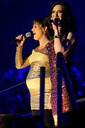 Musical Classics 2012 in Ahoy, een feestelijk gala, waarbij de muziek van de musical centraal staat.<br /> <br /> Op de foto:  Renee van Wegberg en Brigitte Heitzer ( zwanger )
