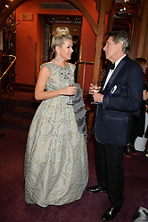 STEPHANIE GORBOUNOVA and BRYAN FERRY at the 10th anniversary Gala of the Russian Ballet Icons at the London Coliseum, St.Martin's Lane, London on 8th March 2015.