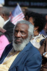 August 19, 2017: FILE: RICHARD CLAXTON GREGORY (born October 12, 1932 died August 19, 2017) was an American civil rights activist, social critic, writer, entrepreneur, comedian, conspiracy theorist and occasional actor. Pictured: Oct 2, 2010 - Washington, District of Columbia, U.S. - Dick Gregory a civil rights activist, Saturday, Oct. 2, 2010, attends the One Nation Working Together March at the Lincoln Memorial in Washington D.C..(Credit Image: © Gary Dwight Miller/ZUMApress.com)