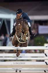 Delestre Simon, (FRA), Ryan Des Hayettes<br /> Grand Prix CSI 5*<br /> Longines Global Champions Tour - Antwerp 2015<br />  © Hippo Foto - Dirk Caremans<br /> 25/04/15