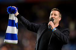 """Chelsea's anthem """"Blue is the Colour"""" is performed before the start of the match - Photo mandatory by-line: Rogan Thomson/JMP - Tel: 07966 386802 - 18/09/2013 - SPORT - FOOTBALL - Stamford Bridge, London - Chelsea v FC Basel - UEFA Champions League Group E"""