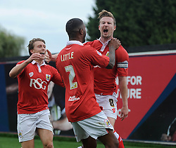 Bristol City's Wade Elliott celebrates with his team mates after scoring. - Photo mandatory by-line: Dougie Allward/JMP - Mobile: 07966 386802 - 27/09/2014 - SPORT - Football - Bristol - Ashton Gate - Bristol City v MK Dons - Sky Bet League One
