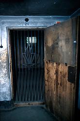 POLAND AUSCHWITZ AUG96 - Gate to former torture chamber at Auschwitz camp I.<br /> <br /> jre/Photo by Jiri Rezac<br /> <br /> © Jiri Rezac 1996<br /> <br /> Tel:   +44 (0) 7050 110 417<br /> Email: info@jirirezac.com<br /> Web:   www.jirirezac.com