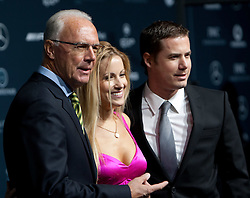 14.11.2011, Hotel Grand Tirolia, Kitzbuehel, AUT, Verleihung Laureus Medienpreis 2011, Roter Teppich im Bild Franz Beckenbauer und Andrea Kaiser mit Lars Ricken // at the red carpet of the Laureus Media Award 2011 at the Grand Hotel Tirolia in Kitzbuehel, Austria on 14/11/2011. EXPA Pictures © 2011, PhotoCredit: EXPA/ Johann Groder