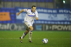 BIRKENHEAD, ENGLAND - Friday, November 16, 2012: Tranmere Rovers' Danny Holmes in action against Milton Keynes Dons during the Football League One match at Prenton Park. (Pic by David Rawcliffe/Propaganda)