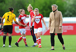 Tanya Oxtoby manager of Bristol City Women shows a look of dejection at the final whistle- Mandatory by-line: Nizaam Jones/JMP - 28/04/2019 - FOOTBALL - Stoke Gifford Stadium - Bristol, England - Bristol City Women v West Ham United Women - FA Women's Super League 1