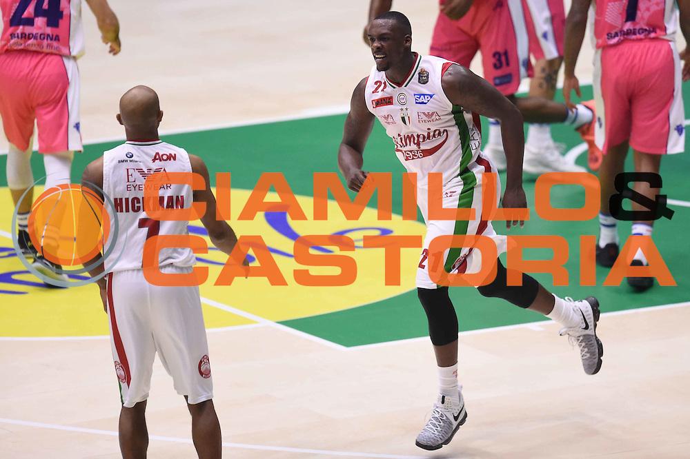 Rakim Sanders<br /> EA7 Emporio Armani Olimpia Milano - Banco di Sardegna Dinamo Sassari <br /> Poste Mobile Final Eight F8 2017 <br /> Lega Basket 2016/2017<br /> Rimini, 19/02/2017<br /> Foto Ciamillo-Castoria