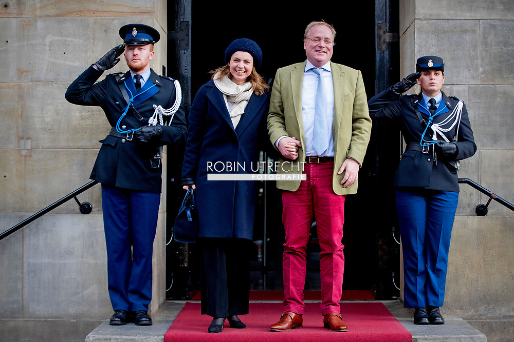 3-2-2018 AMSTERDAM -Prince Carlos and Princess Annemarie arrives at the Royal Palace on Dam Square for the birthday reception of Princess Beatrix. The princess celebrates her 80th birthday in private. ROBIN UTRECHT
