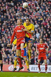 LIVERPOOL, ENGLAND - Saturday, January 26, 2008: Liverpool's Peter Crouch in action against Havant and Waterlooville during the FA Cup 4th Round match at Anfield. (Photo by David Rawcliffe/Propaganda)