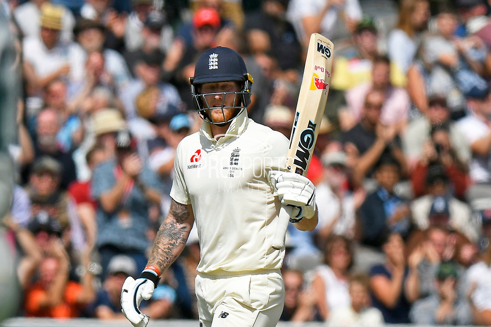 50 - Ben Stokes of England celebrates scoring a half century during the International Test Match 2019 match between England and Australia at Lord's Cricket Ground, St John's Wood, United Kingdom on 18 August 2019.