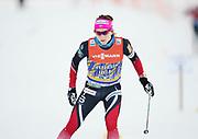 DAVOS, SCHWEIZ - 2016-12-09: Maiken Caspersen Falla under tr&auml;ning inf&ouml;r Viessmann FIS Cross Country World Cup den 9 december, 2016 i Davos, Schweiz. Foto: Nils Petter Nilsson/Ombrello<br /> ***BETALBILD***