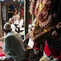 Busy streets in Old Delhi during the last day of Ramadan
