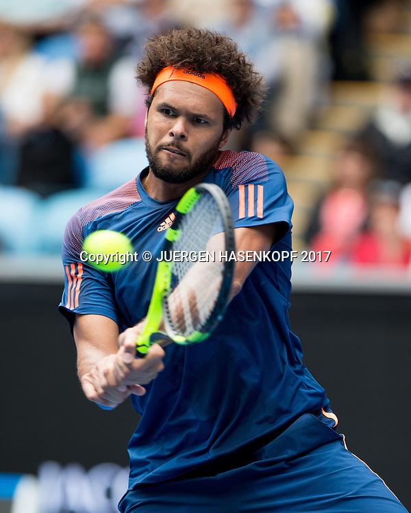 JO-WILFRIED TSONGA (FRA)<br /> <br /> Australian Open 2017 -  Melbourne  Park - Melbourne - Victoria - Australia  - 20/01/2017.