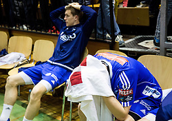 Gal Marguc of RK Celje PL dejected after the handball match between RK Gorenje and RK Celje Pivovarna Lasko in 5th Round of 1st NLB Leasing Slovenian Champions League 2015/16, on May 11, 2016, in Red arena, Velenje, Slovenia. Photo by Vid Ponikvar / Sportida