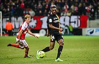 Aristote MADIANI / Franck SIGNORINO - 25.01.2015 - Reims / Lens  - 22eme journee de Ligue1<br /> Photo : Dave Winter / Icon Sport *** Local Caption ***