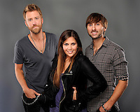 Country Group Lady Antebellum (L-R) Charles Kelly Hillary Scott and Dave Haywood pose for a photo on Tuesday, Aug. 9, 2011 in Nashville, Tenn. Photos/Donn Jones Photography