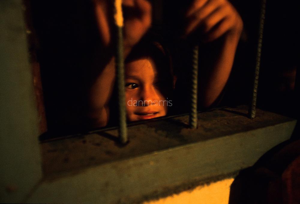 Children playing at night, Ban Pak Ou, Luang Phrabang, Laos