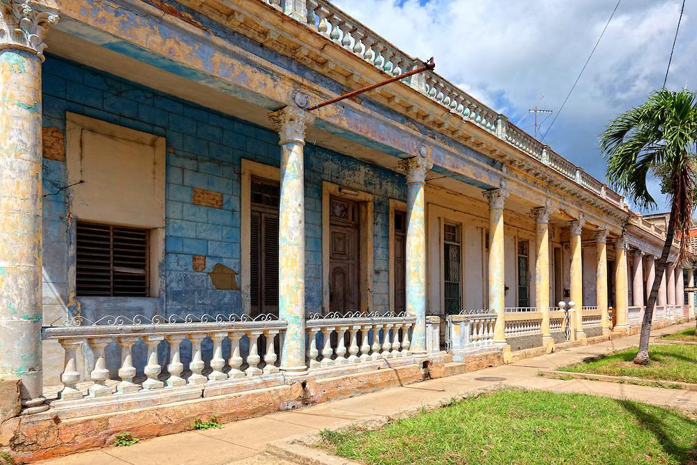 Buildings in San Cristobal, Artemisa, Cuba.