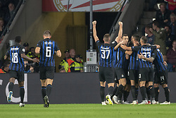 October 4, 2018 - Eindhoven, Netherlands - Inter players celebrate scoring during the UEFA Champions League Group B match between PSV Eindhoven and FC Internazionale Milano at Philips Stadium in Eindhoven, Holland on October 3, 2018  (Credit Image: © Andrew Surma/NurPhoto/ZUMA Press)
