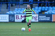 Forest Green Rovers Liam Noble(15) runs forward during the FA Trophy match between Macclesfield Town and Forest Green Rovers at Moss Rose, Macclesfield, United Kingdom on 4 February 2017. Photo by Shane Healey.