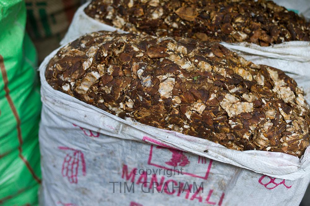 Tamarind on sale at Khari Baoli spice and dried foods market, Old Delhi, India
