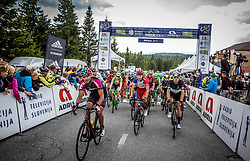 Peloton at finish line during Stage 3 of 24th Tour of Slovenia 2017 / Tour de Slovenie from Celje to Rogla (167,7 km) cycling race on June 16, 2017 in Slovenia. Photo by Vid Ponikvar / Sportida