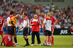Hong Kong, China - Friday, July 27, 2007: Liverpool's manager Rafael Benitez picks his penalty takers during the final of the Barclays Asia Trophy at the Hong Kong Stadium. (Photo by David Rawcliffe/Propaganda)