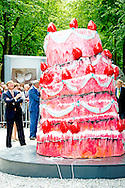 THE HAGUE  -  King Willem Alexander opens Tuesday June 17 at the Lange Voorhout in The Hague summer exhibition Grandeur - French sculpture from Laurens to the present. COPYRIGHT ROBIN UTRECHT