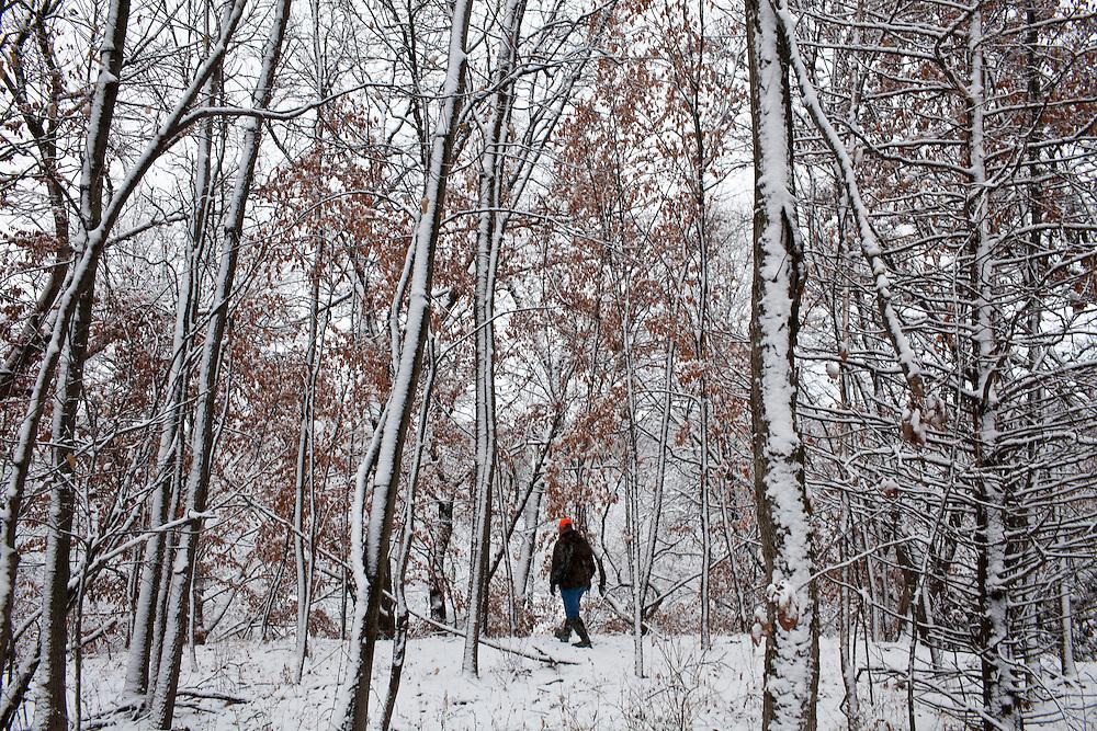 Mike Johnson hunts for deer on Sunday, December 4, 2011 in Webster City, IA.