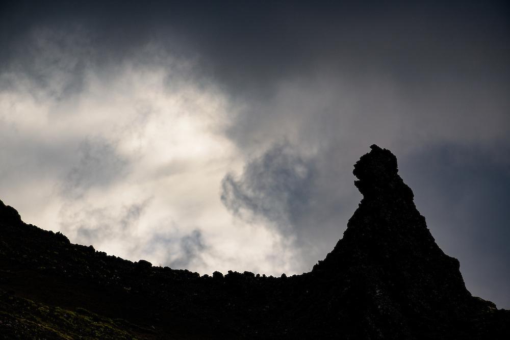 Detail of Snaefellsjokul, Iceland
