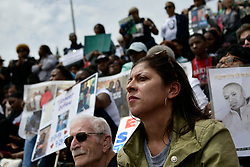 Anti gun violence rally on the Art Museum steps, in Philadelphia, PA, on June 11, 2018. The 3rd annual Fill the Steps Against Gun Violence gathering is to raise awareness on the deadly epidemic and is organized by columnist Helen Ubinas (pictured).