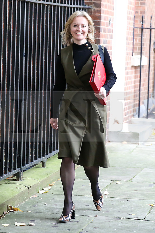 © Licensed to London News Pictures. 29/10/2019. London, UK. Secretary of State for International Trade LIZ TRUSS departs from Downing Street after attending the weekly cabinet meeting. Photo credit: Dinendra Haria/LNP