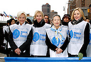 Cindy McCain, Trudie Styler, Ban Soon-taek and Kim Cattrall attend the March To End Violence Against Women at the United Nations Headquarters in New York City, New York on March 07, 2014.