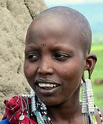 Young Maasai female teen Maasai is an ethnic group of semi-nomadic people Photographed in Tanzania