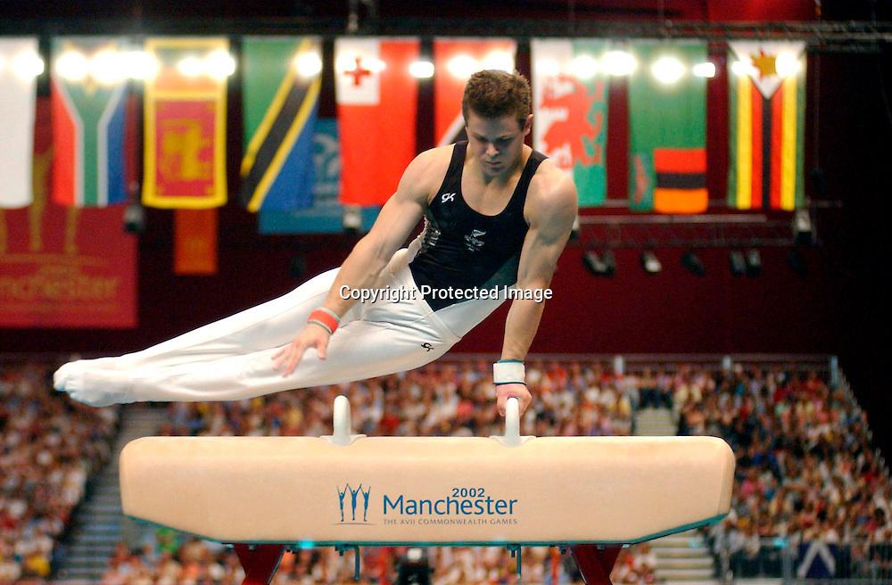 Commonwealth Games 2002, Manchester, England.<br />Mens Gymnastics<br />Daniel Good<br />Pic: Delly Carr/Photosport