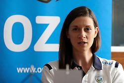 Marina Cvetanovic of Slovenia at press conference of Slovenian National Women Team on June 21, 2016 in Hisa Sporta, Ljubljana, Slovenia. Photo by Matic Klansek Velej / Sportida