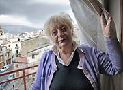Mezzojuso: Marianna Napoli, una delle sorelle vittima dei sorpusi della mafia dei pascoli del territorio.<br /> Mezzojuso, Sicily: Marianna Napoli victim of&quot;cattle mafia&quot;