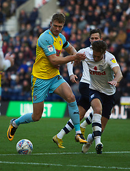 Michael Smith of Rotherham United (L) and Ben Davies of Preston North End in action - Mandatory by-line: Jack Phillips/JMP - 27/10/2018 - FOOTBALL - Deepdale - Preston, England - Preston North End v Rotherham United - English League Championship