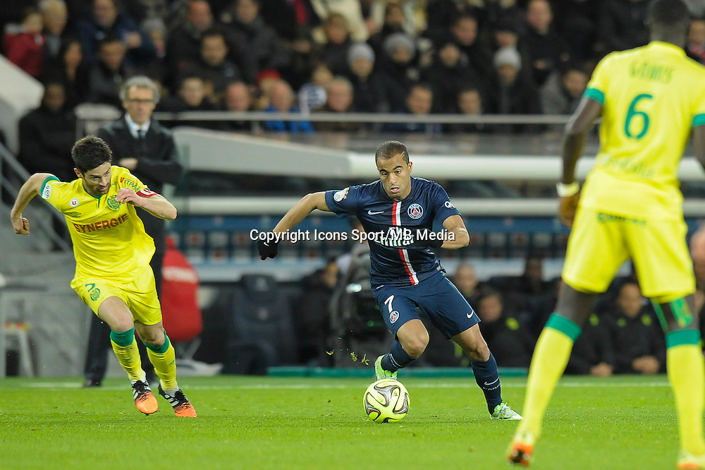 Lucas Moura - 06.12.2014 - PSG / Nantes - 17eme journee de Ligue 1<br />