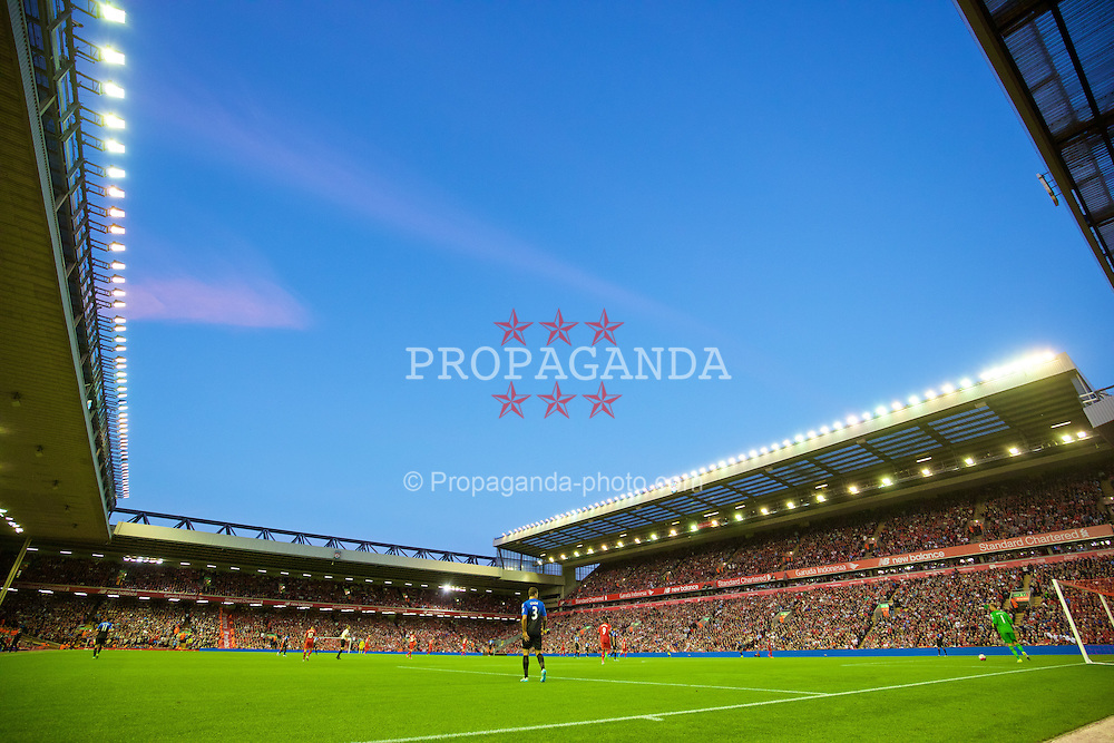 LIVERPOOL, ENGLAND - Monday, August 17, 2015: A general view of Liverpool's Anfield Stadium during the Premier League match against AFC Bournemouth. (Pic by David Rawcliffe/Propaganda)