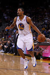 Mar 16, 2012; Oakland, CA, USA; Golden State Warriors small forward Dominic McGuire (5) dribbles the ball against the Milwaukee Bucks during the fourth quarter at Oracle Arena. Milwaukee defeated Golden State 120-98. Mandatory Credit: Jason O. Watson-US PRESSWIRE