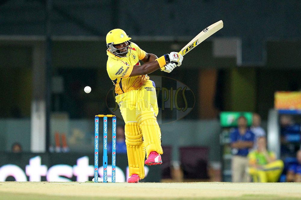 Dwayne Smith of Chennai Super Kings during match 47 of the Pepsi IPL 2015 (Indian Premier League) between The Chennai Superkings and The Rajasthan Royals held at the M. A. Chidambaram Stadium, Chennai Stadium in Chennai, India on the 10th May 2015.Photo by:  Prashant Bhoot / SPORTZPICS / IPL