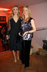 Left to right, ALLEGRA HICKS and LADY HELEN TAYLOR at the 6th annual Lancome Colour Design Awards in association with CLIC Sargent Cancer Care held at Lindley Hall, Victoria, London on 28th November 2006.<br />