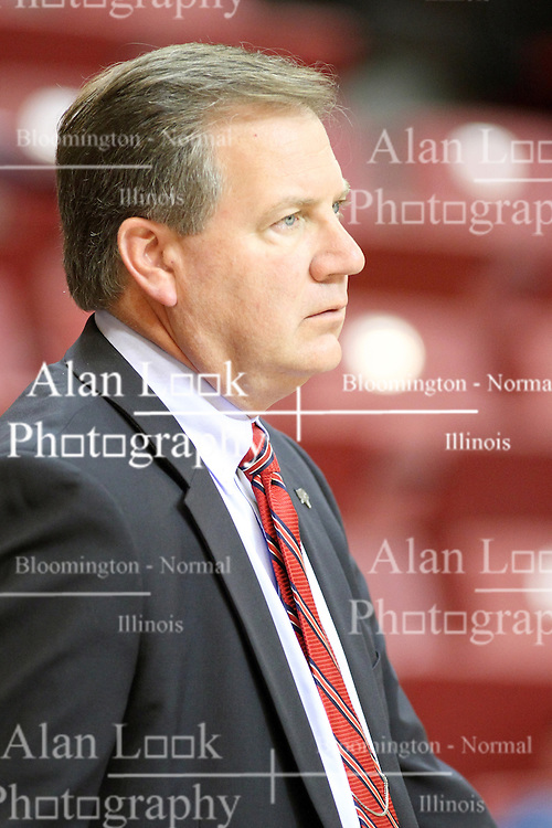 03 November 2013: Illinois State Athletic Director Larry Lyons  during an mens exhibition basketball game between the Quincy Hawks and the Illinois State Redbirds in Redbird Arena, Normal IL