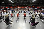 Birmingham, Great Britain,   General view of  the J18 men's race at  the British Indoor Rowing Championships, National Indoor Arena, NIA, Sun, 22.11.2009  [Mandatory Credit. Peter Spurrier/Intersport Images]