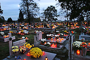 Zadzim Cemetery, Poland. All Saints Day.